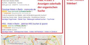 Neue Google-Suchergebnisseite