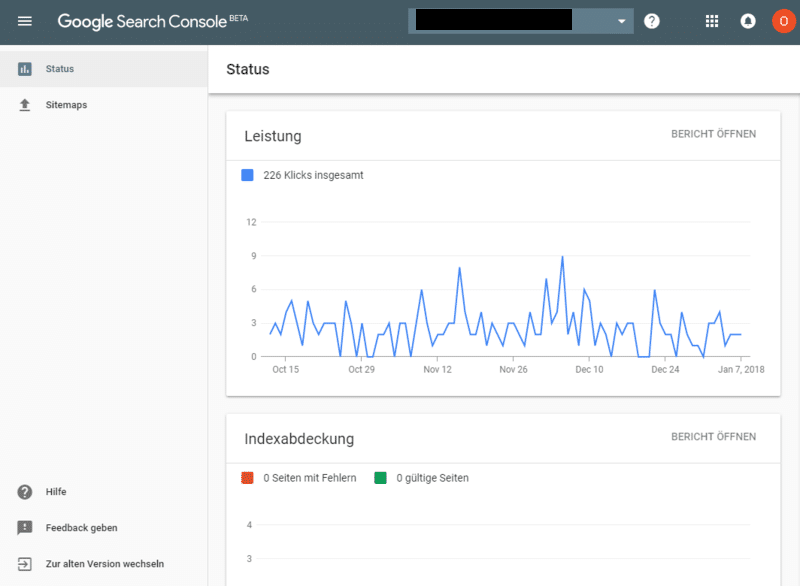 Neues Interface in der neuen Google Search Console