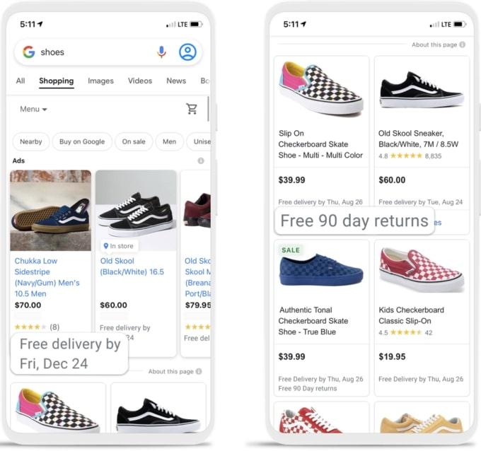 Google Shopping: Google führt neue Versandinformationen ein