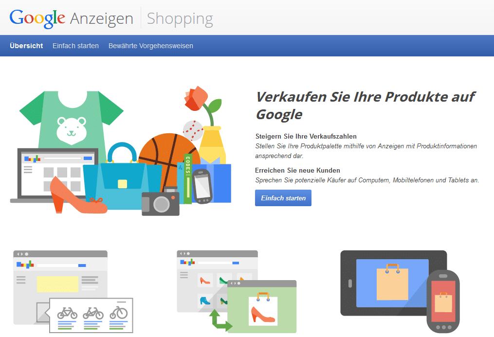 Personalisierte Seiten auf Google Shopping