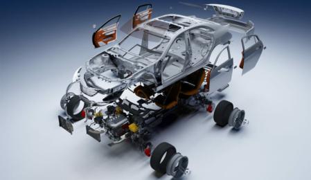 Teilstücke eines Modellautos