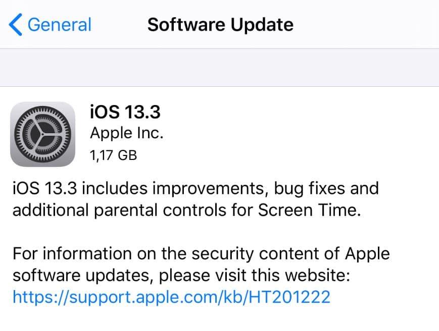 iOS 13.3.
