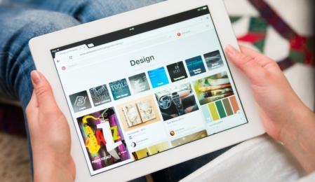 iPad mit Pinterest