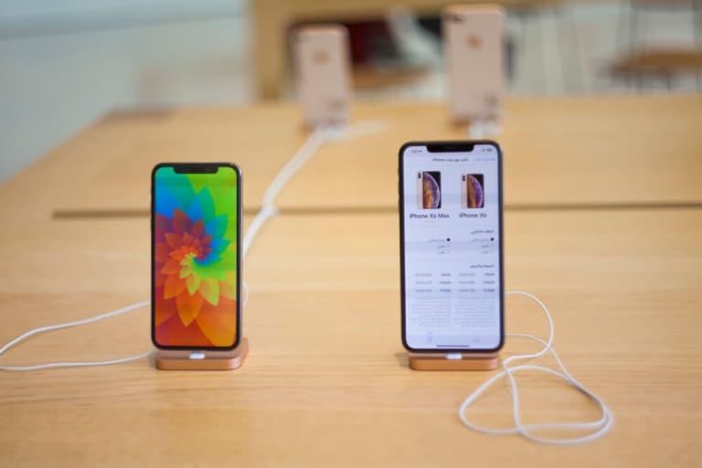 iPhone ausgestellt