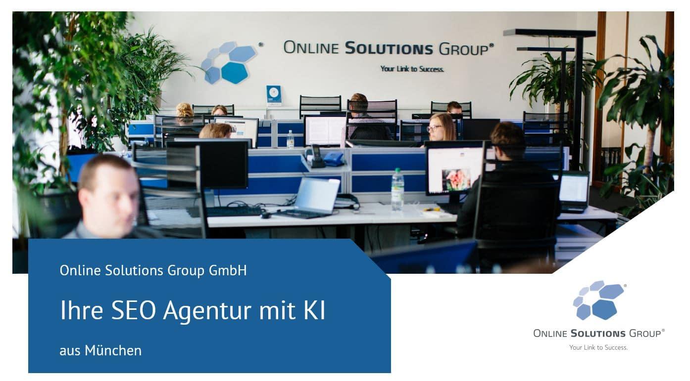 Weitere Infos über OSG als SEO Agentur München mit KI