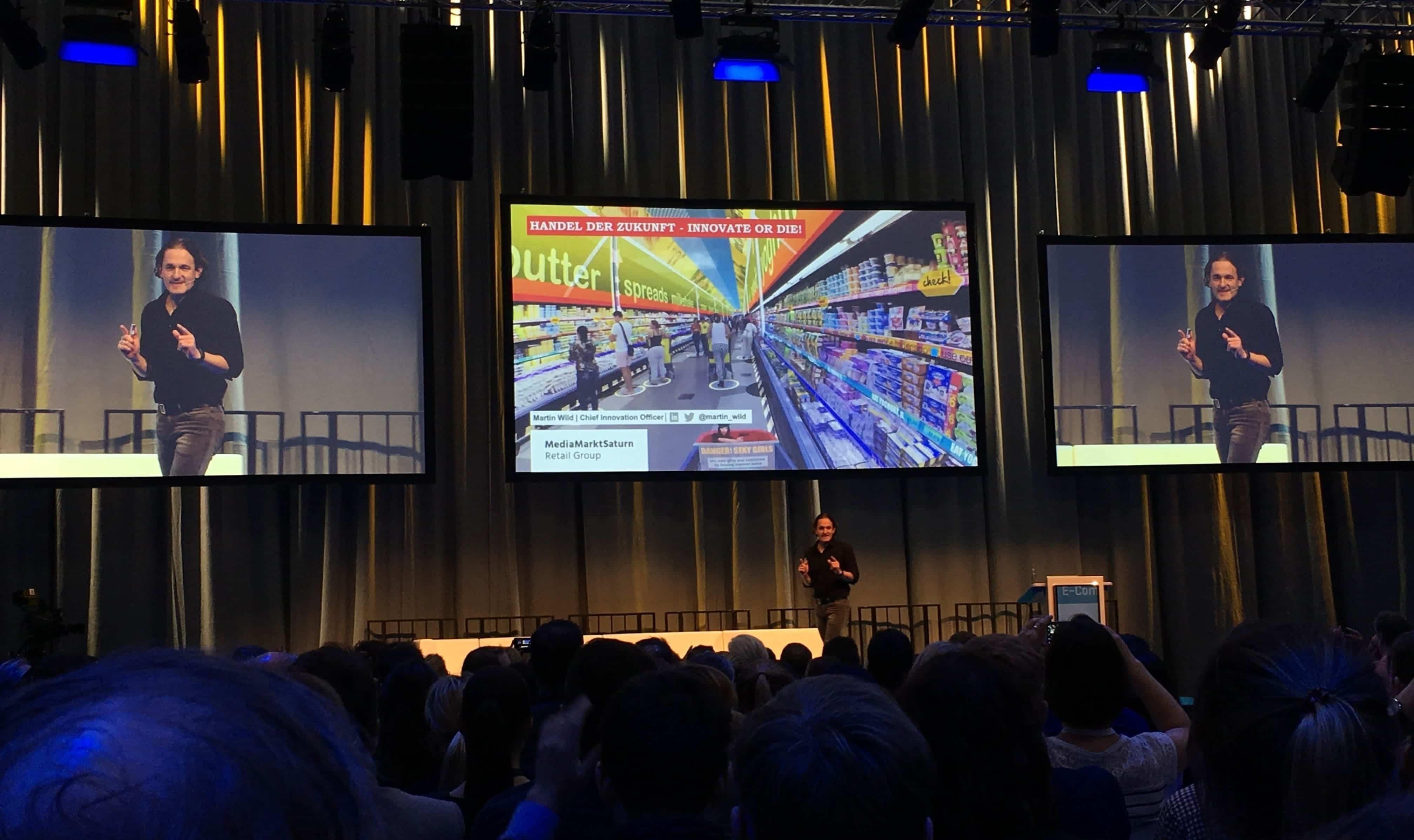 """Martin Wilds Präsentation auf der Internet World Expo 2018 von der MediaMarktSaturn Retail Group zu """"Innovate or Die!"""""""