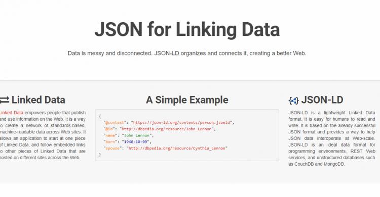 Screenshot von JSON-LD
