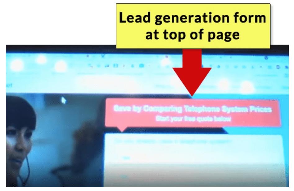 Lead-Gen Formular