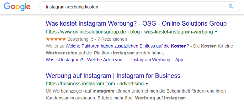 Link in der Meta Discription