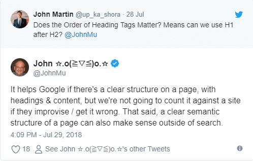 Struktur einer Webseite nicht rankingrelevant
