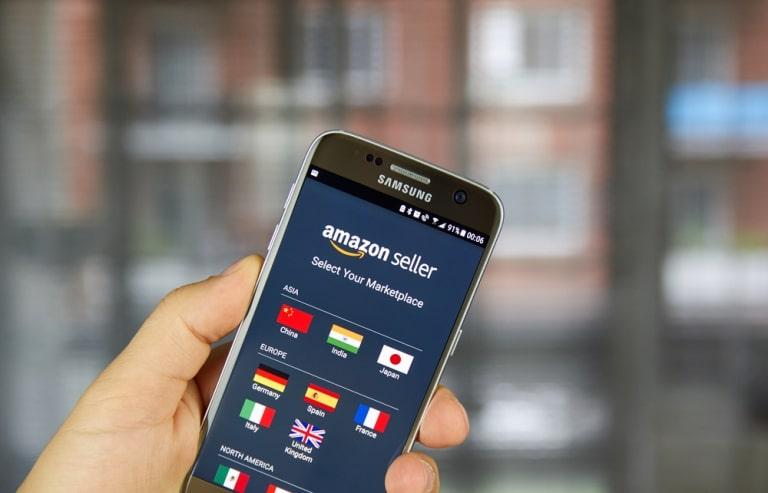 Amazon Seller auf dem Handy