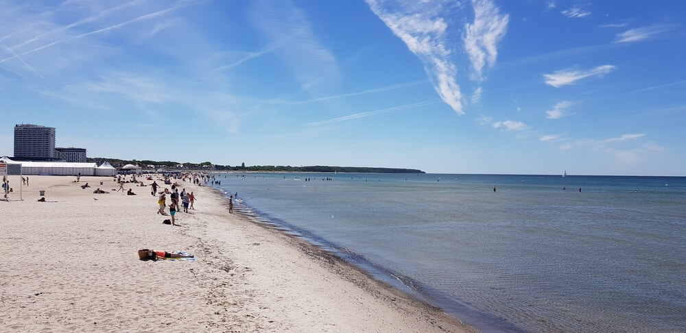Strand in Warnemünde am MVpreneur Day 2018