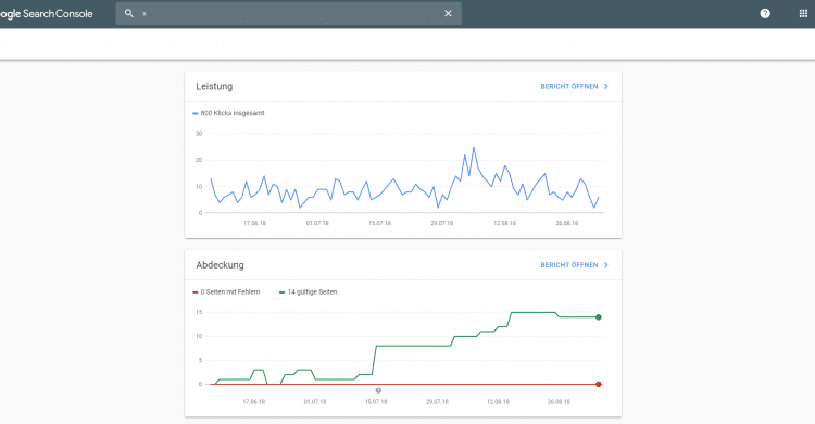 Search Console nicht mehr in der Beta-Phase