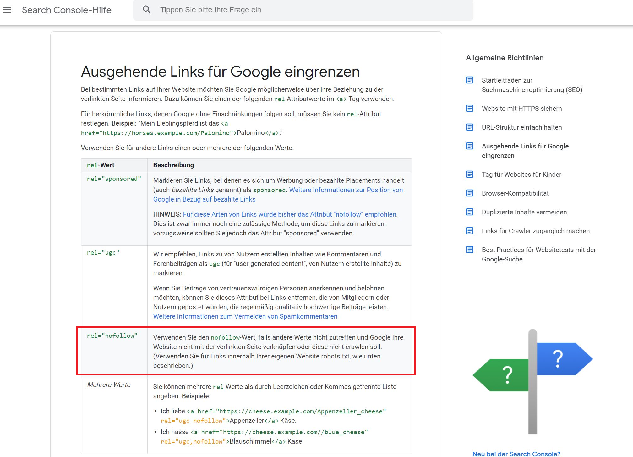 No Follow Links Google Richtlinien