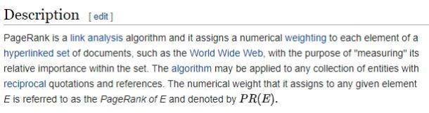 PageRank Wikipedia