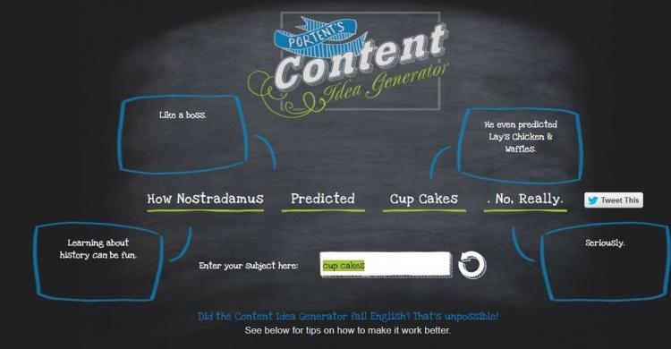 Portent Überschriften Generator Content Marketing Tool