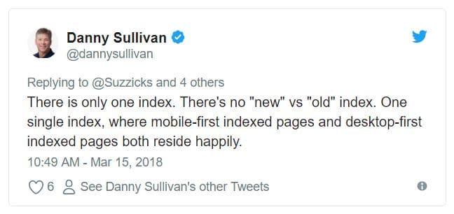 Screenshot eines Twitter Posts von Danny Sullivan zur Google Search Console