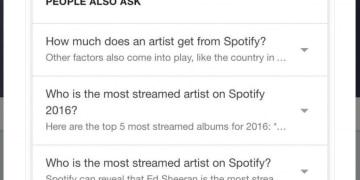 Screenshot der Post von Sergey Alakov zu Google People Also Ask Feature
