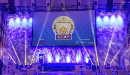 Bühne bei der SEMY-Award-Verleihung 2018