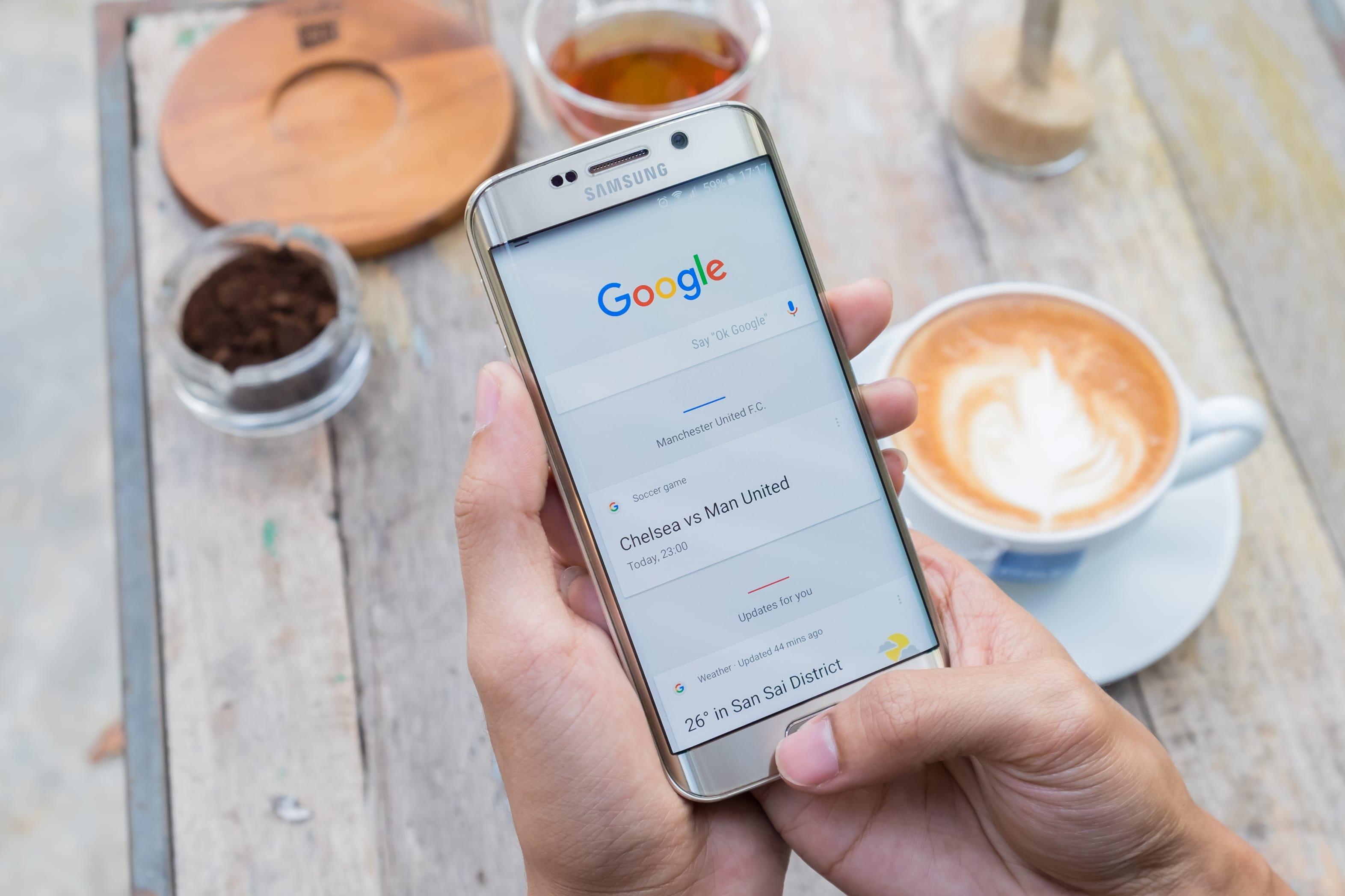 Suchbegriff: Google Suche am Smartphone