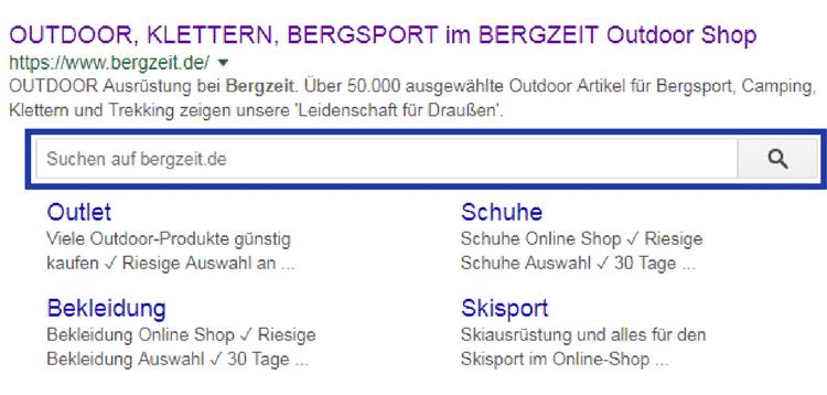 Suchschlitz Rich Snippets im SEO für Online Shops