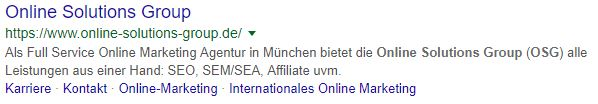 URL in Google Search Result Snippet nun klickbar