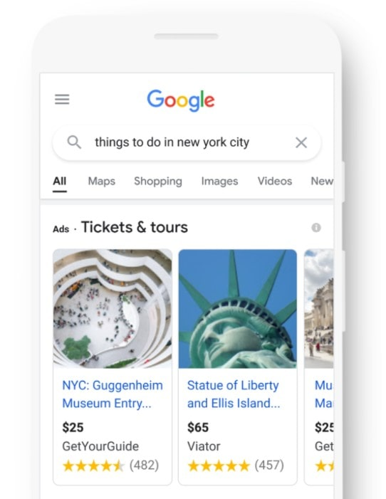 "Google kündigt ""Things to do"" an"