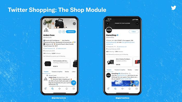 Twitter Shop Anzeige