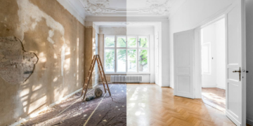 Kontrast von alter zu neuer Wohnung