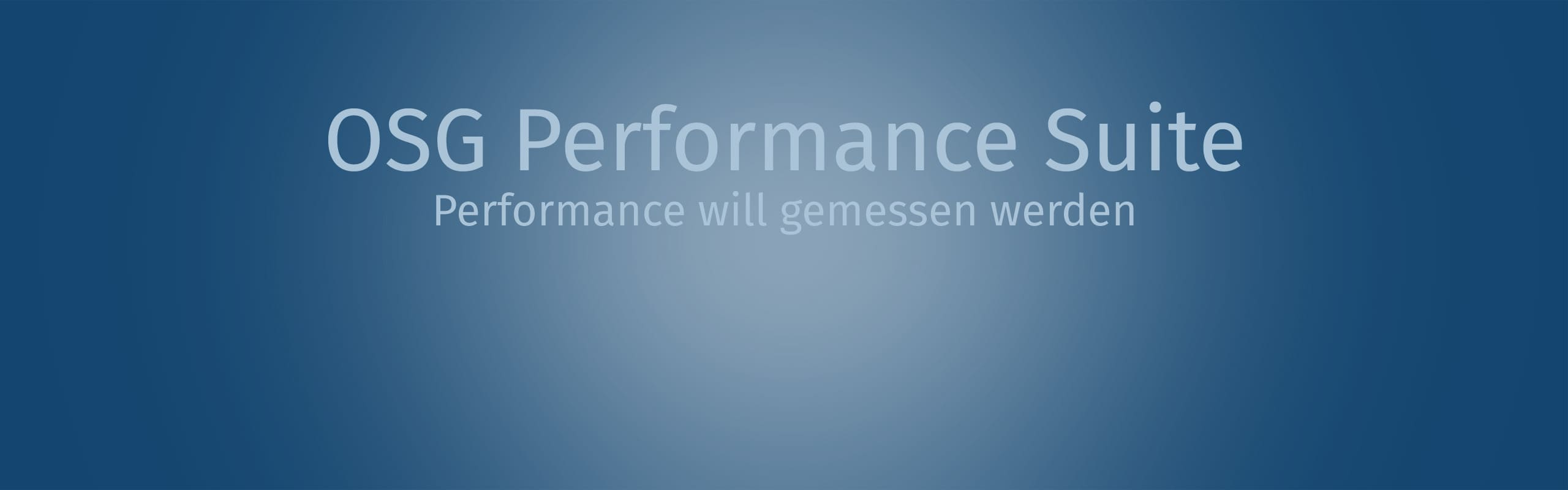 OSG Performance Suite Video Image