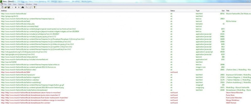 Xenu 404 Fehler