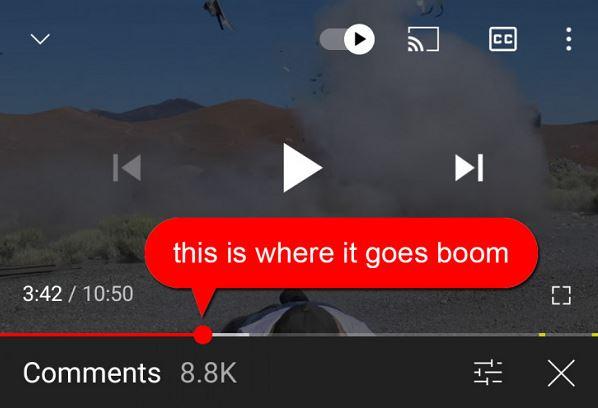 YouTube zeitgesteuerte Kommentare